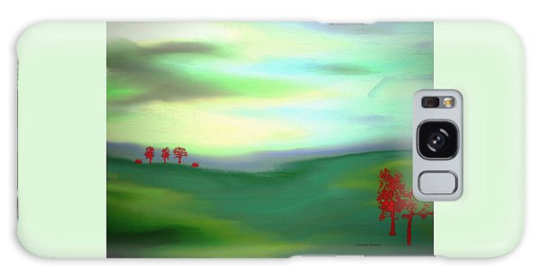 Red Trees Galaxy Case by Lenore Senior