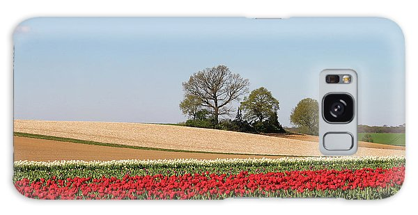 Red Tulips Landscape Galaxy Case