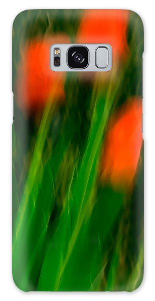 Red Tulips Galaxy Case