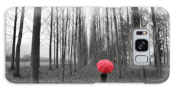 Red Umbrella In An Allee Galaxy Case