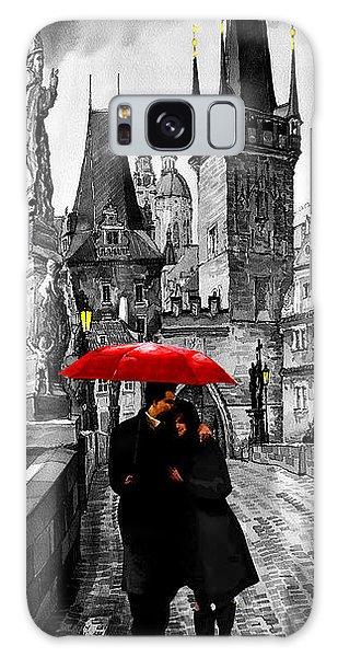 Mixed-media Galaxy Case - Red Umbrella by Yuriy Shevchuk