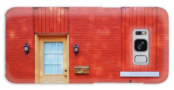 Bike Galaxy Case - Red Wall White Bike by Pd