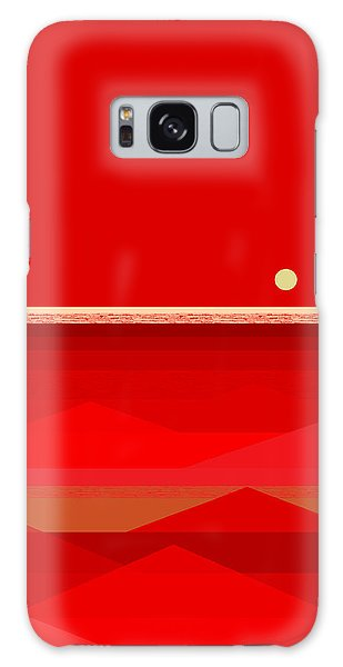 Red Waves Galaxy Case