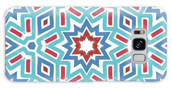Fireworks Galaxy Case - Red White And Blue Fireworks Pattern- Art By Linda Woods by Linda Woods