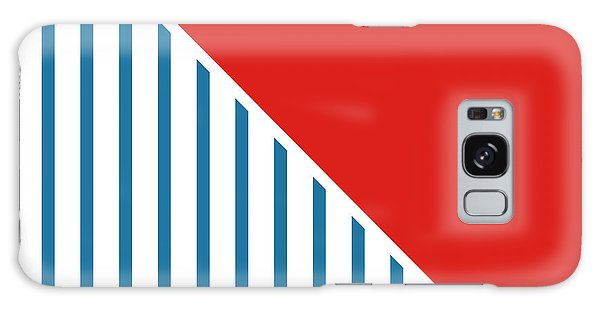 Americana Galaxy Case - Red White And Blue Triangles 2 by Linda Woods