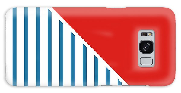 Patriotic Galaxy Case - Red White And Blue Triangles 2 by Linda Woods
