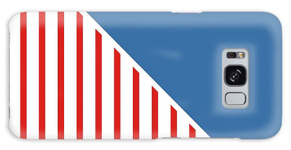 Americana Galaxy Case - Red White And Blue Triangles by Linda Woods