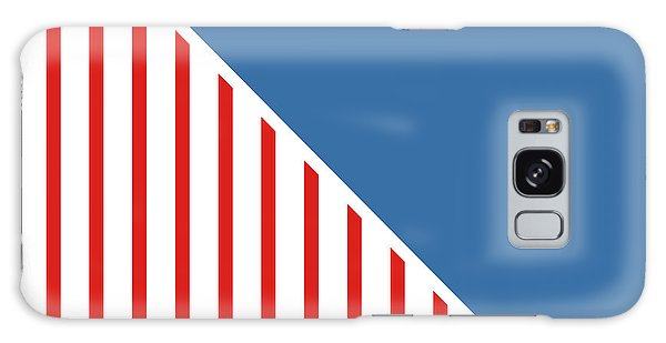 Patriotic Galaxy Case - Red White And Blue Triangles by Linda Woods