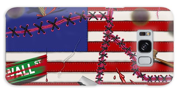 Red White And Bruised IIi Galaxy Case