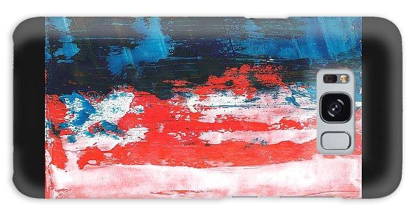 Red White Blue Scene Galaxy Case