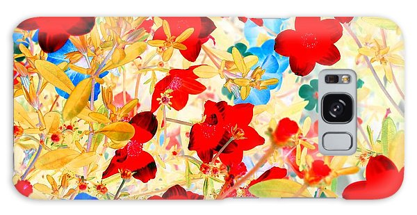 Galaxy Case featuring the photograph Red Wild Flowers by Marianne Dow
