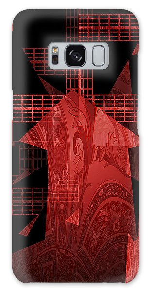 Red Windmill Abstract Galaxy Case