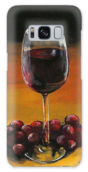 Red Wine And Red Grapes Galaxy Case