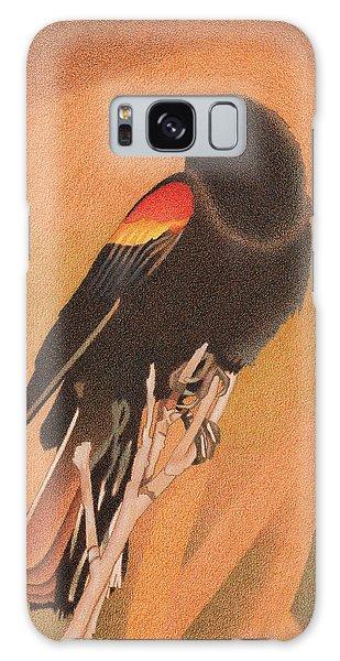 Red-winged Blackbird 3 Galaxy Case
