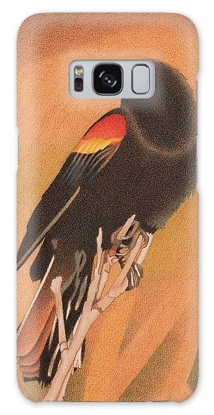 Red-winged Blackbird 3 Galaxy Case