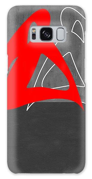 Figurative Galaxy Case - Red Woman by Naxart Studio