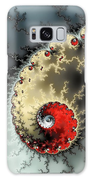 Red Yellow Grey And Black - Amazing Mandelbrot Fractal Galaxy Case by Matthias Hauser