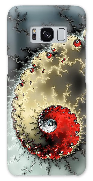 Red Yellow Grey And Black - Amazing Mandelbrot Fractal Galaxy Case