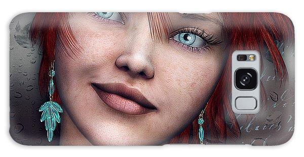 Redhead Galaxy Case by Jutta Maria Pusl