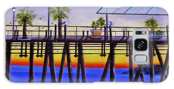 Redondo Beach Pier Galaxy Case by Jamie Frier