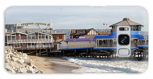 Redondo Beach Pier Shopping Galaxy Case