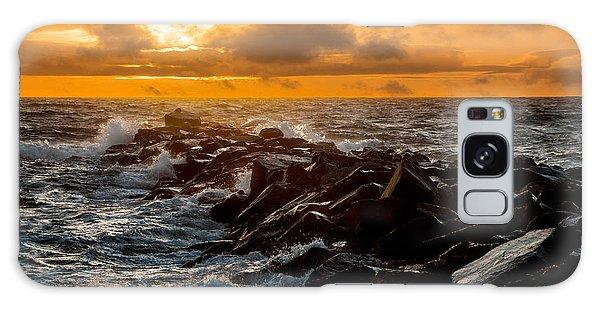 Redondo Beach Sunset Galaxy Case by Ed Clark