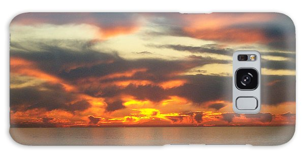 Redondo Beach Sunset Galaxy Case by Mark Barclay