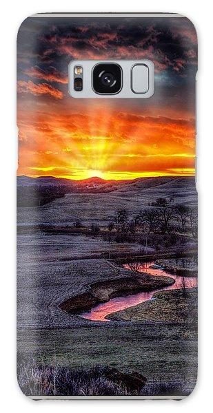 Redwater River Sunrise Galaxy Case