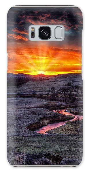 Redwater River Sunrise Galaxy Case