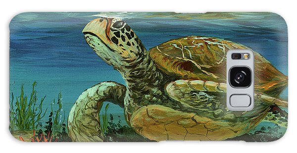 Galaxy Case featuring the painting Reef Honu by Darice Machel McGuire