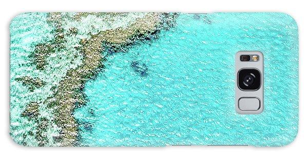 Australia Galaxy Case - Reef Textures by Az Jackson