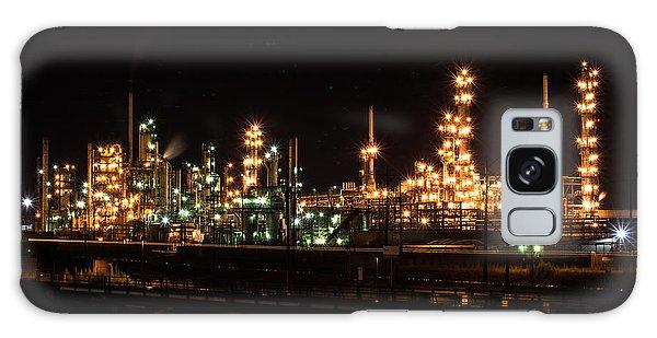 Refinery At Night 3 Galaxy Case