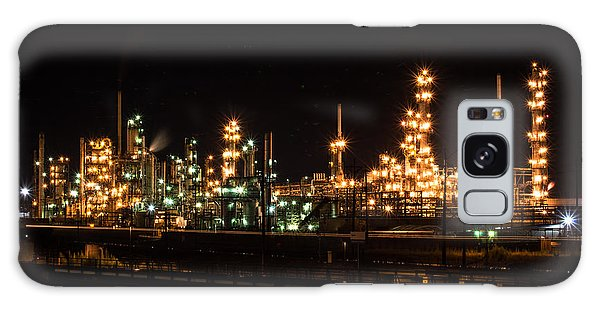 Refinery At Night 3 Galaxy Case
