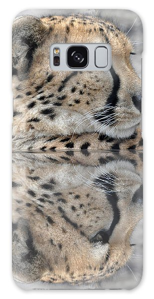 Reflected Cheetah Galaxy Case