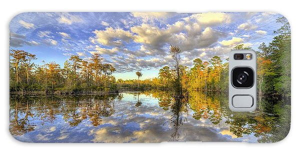 Galaxy Case featuring the photograph Reflecting On Florida Wetlands by JC Findley