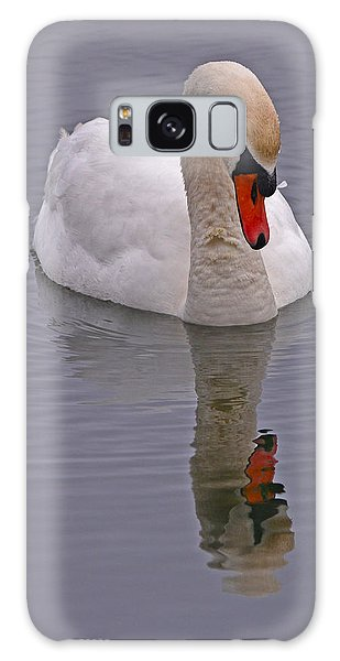 Galaxy Case featuring the photograph Reflecting Swan by Ken Stampfer