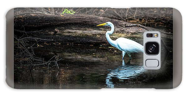 Egret Galaxy Case - Reflecting White by Marvin Spates