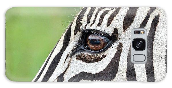 Reflection In A Zebra Eye Galaxy Case