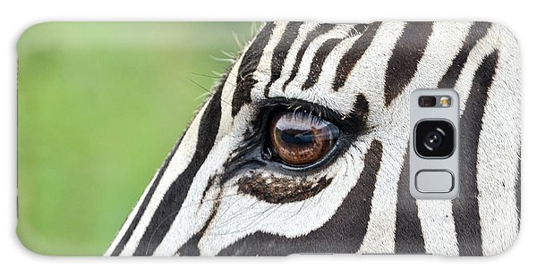 Reflection In A Zebra Eye Galaxy Case