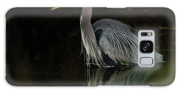 Reflection Of A Heron Galaxy Case by George Randy Bass