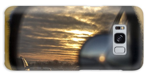 Reflection Of A Sunset Galaxy Case