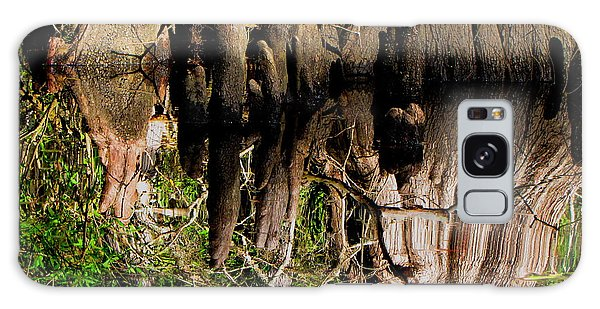Reflection Of Cypress Knees Galaxy Case by Barbara Bowen