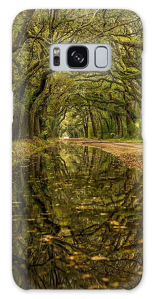 Reflection Of Live Oaks  Galaxy Case by Serge Skiba