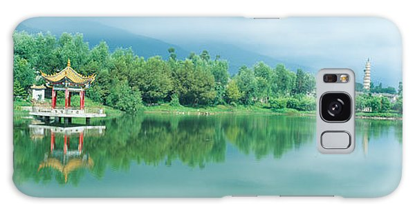 People's Republic Of China Galaxy Case - Reflection Of Pagoda Pavilion In Dali by Panoramic Images