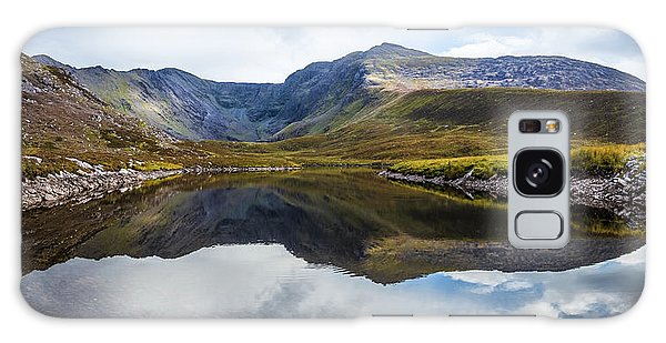 Reflection Of The Macgillycuddy's Reeks In Lough Eagher Galaxy Case by Semmick Photo