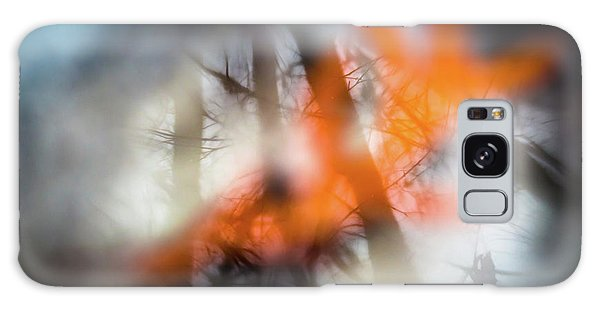 Reflection Of Trees Over An Oak Leaf Encased In Water And Ice Galaxy Case