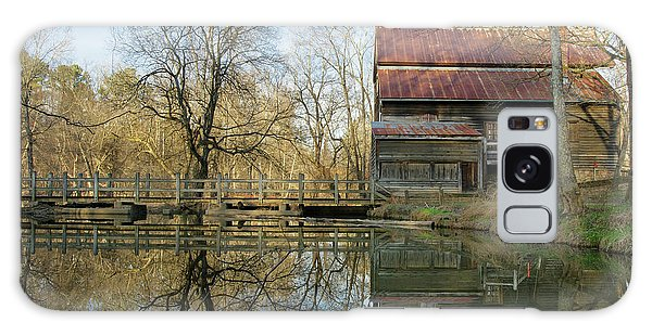 Reflection On A Grist Mill Galaxy Case by George Randy Bass
