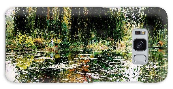 Reflection On Oscar - Claude Monet's Garden Pond Galaxy Case