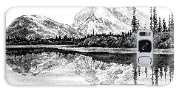 Reflections - Mountain Landscape Print Galaxy Case