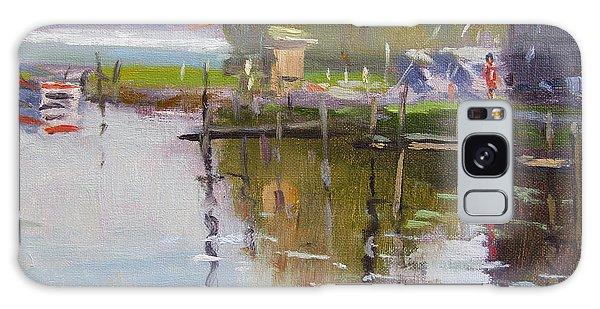 Marina Galaxy Case - Reflections At Ashville Bay Marina by Ylli Haruni